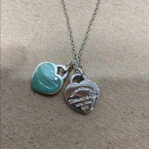 Tiffany & Co. Jewelry - Tiffany & Co double heart necklace